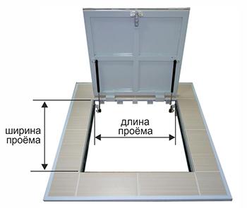 Размеры напольного люка